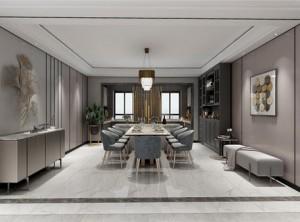 鼎美顶墙集成木泥材系列现代餐厅装修效果图