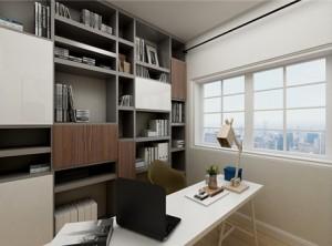 鼎美顶墙集成木泥材系列现代书房装修效果图