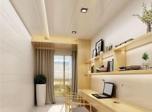 鼎美顶墙集成现代书房装修效果图