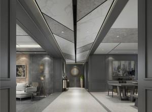 鼎美顶墙集成无胶大板系列美式工业过道装修效果图