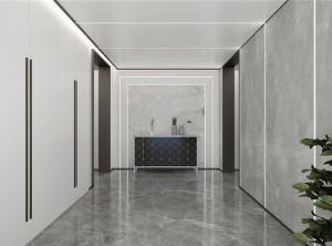 鼎美顶墙集成无胶大板系列现代过道装修效果图