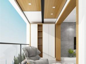 鼎美顶墙集成无胶大板系列现代阳台装修效果图