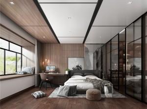 容声集成吊顶无胶大板系列意式轻奢卧室装修效果图,容声无胶大板效果图图片