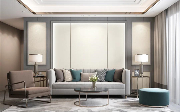 艾莱特集成墙板全屋绿装沙发背景墙装修效果图图片