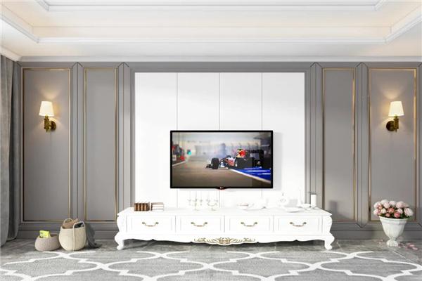 艾莱特全屋绿装集成墙板电视背景墙装修效果图图片