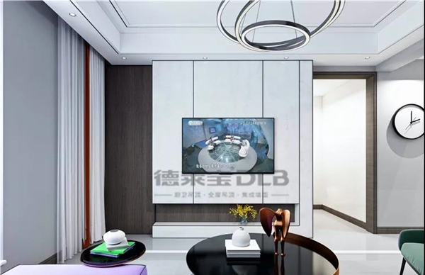 德莱宝集成墙面客厅背景墙装修效果图图片