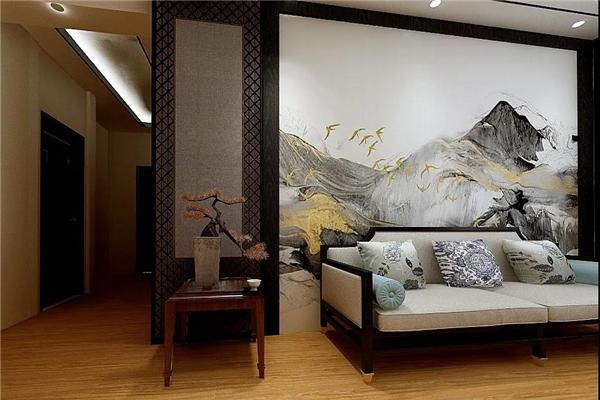 高牌集成墙板客厅背景墙装修效果图图片