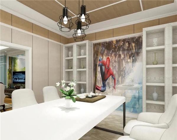 高牌集成墙板餐厅背景墙装修效果图图片