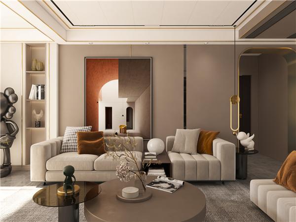 云木集成墙面现代轻奢客厅背景墙装修效果图
