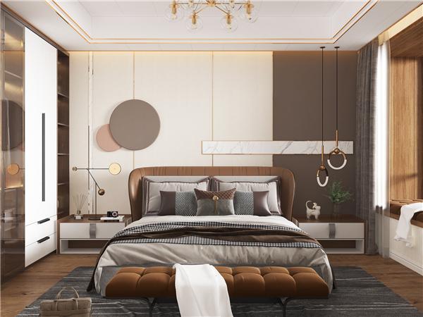 云木集成墙面现代轻奢卧室背景墙装修效果图