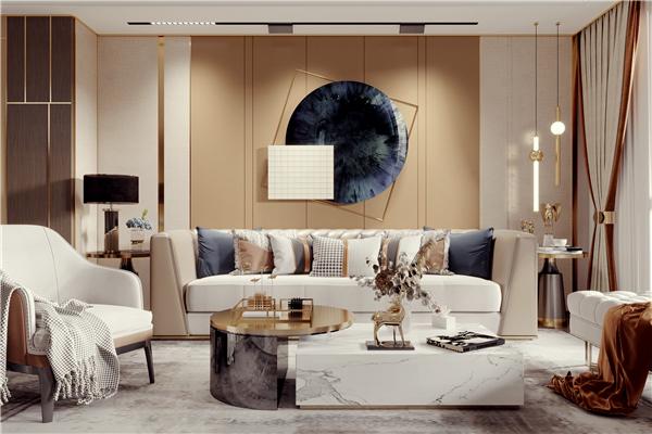 云木集成墙板沙发背景墙装修效果图图片