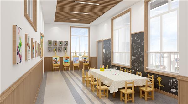 云木集成墙板幼儿园装修效果图图片